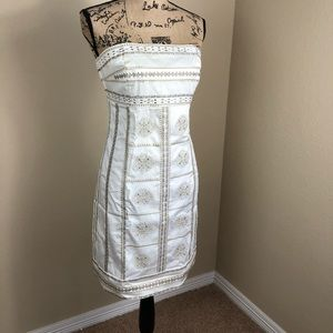 White House Black Market White Strapless Dress 10